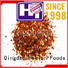 Hetian safe dried chilli flakes directly sale for cafe shop