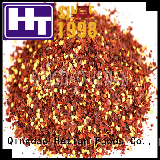 Hetian healthy crushed chili flakes factory price for cafe shop