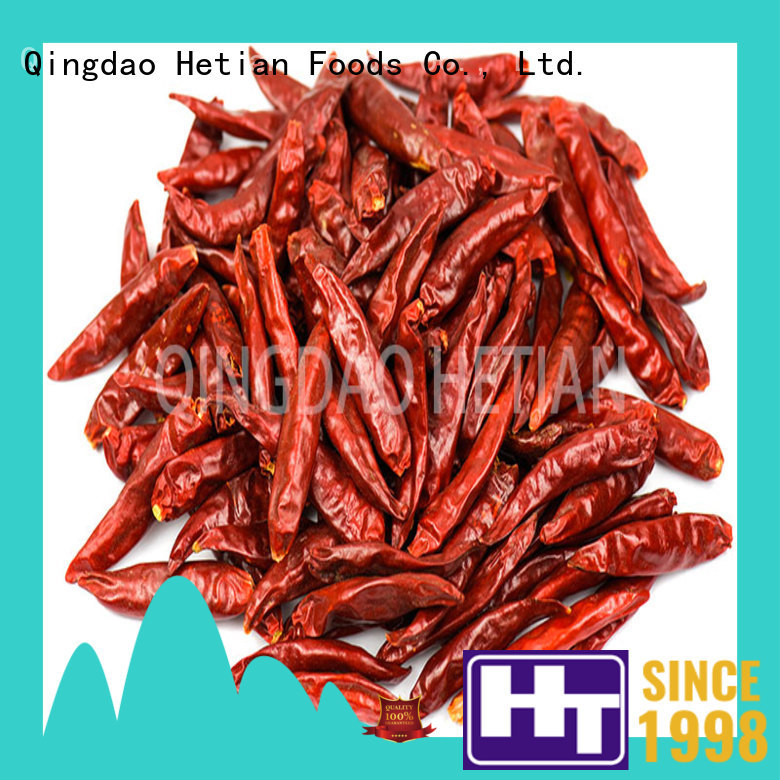 Hetian healthy dried cayenne peppers whole for hotel