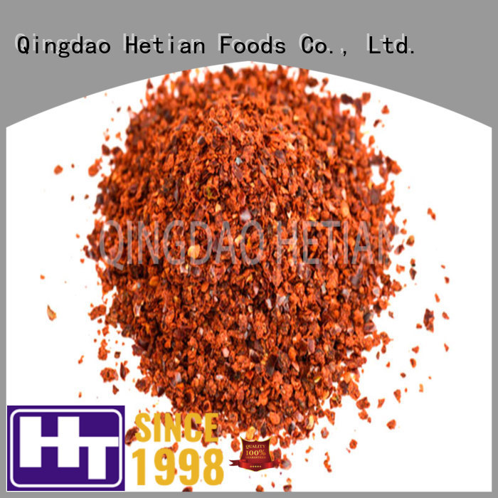 Hetian natural chili powder recipe factory price for hotel