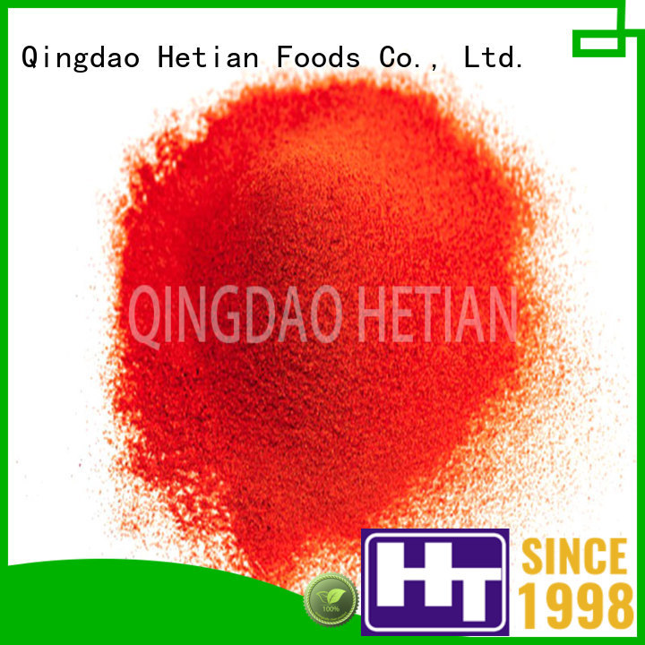 Hetian safe chile flakes factory price for cafe shop