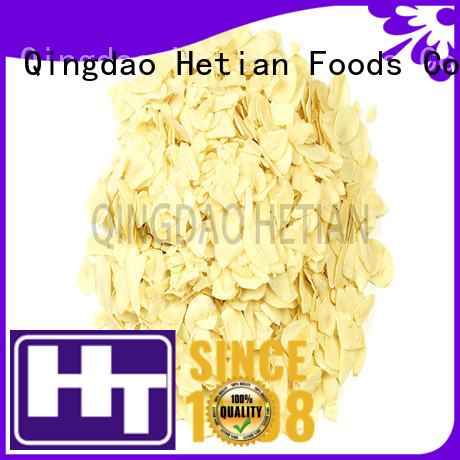 Hetian safe dried garlic flakes from China for restaurant