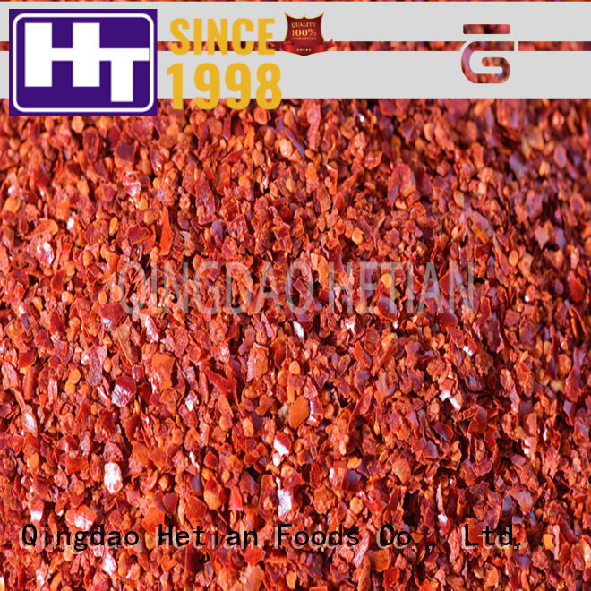 Hetian crushed chili flakes supplier for cafe shop