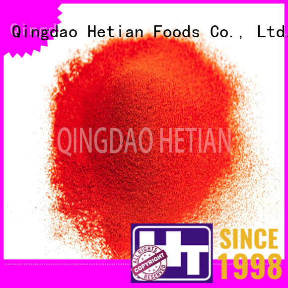 Hetian dried red pepper flakes factory price for cafe shop