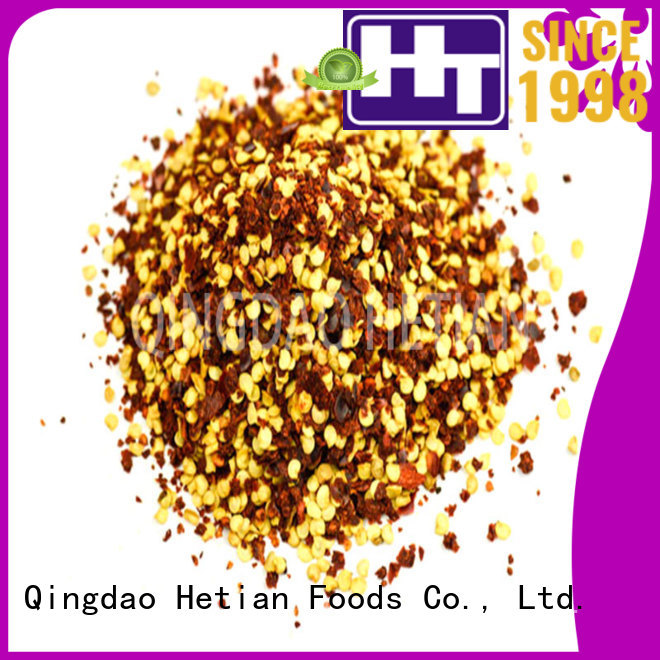 Hetian safe chile flakes directly sale for cafe shop