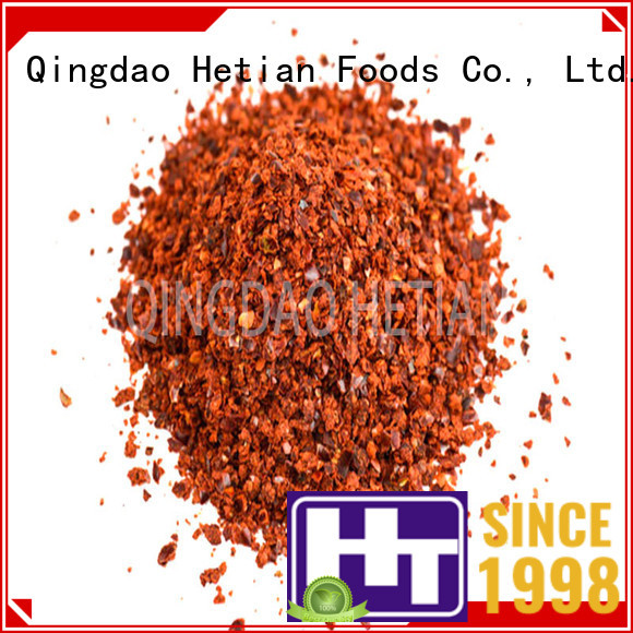 Hetian healthy crushed chili flakes directly sale for hotel