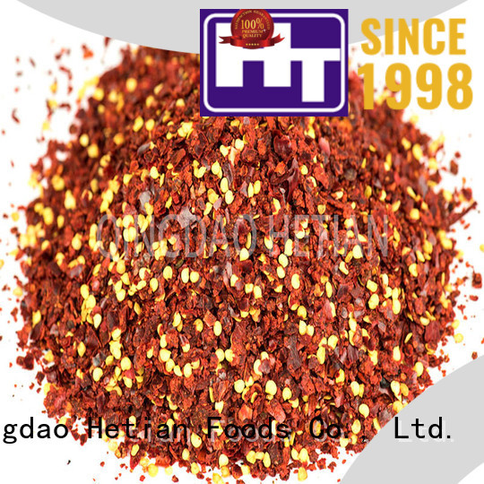Hetian healthy dried chilli flakes supplier for cafe shop