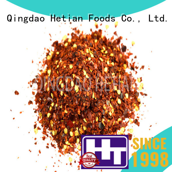 Hetian dried crushed red pepper wholesale for cafe shop