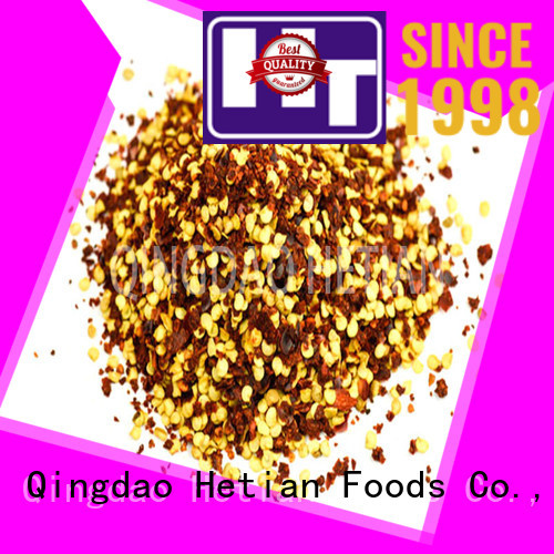 Hetian powder dried red pepper flakes supplier for hotel