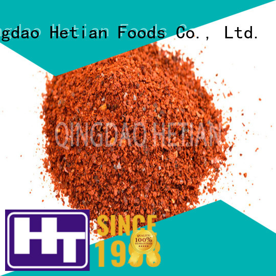 Hetian high quality crushed paprika flakes for party
