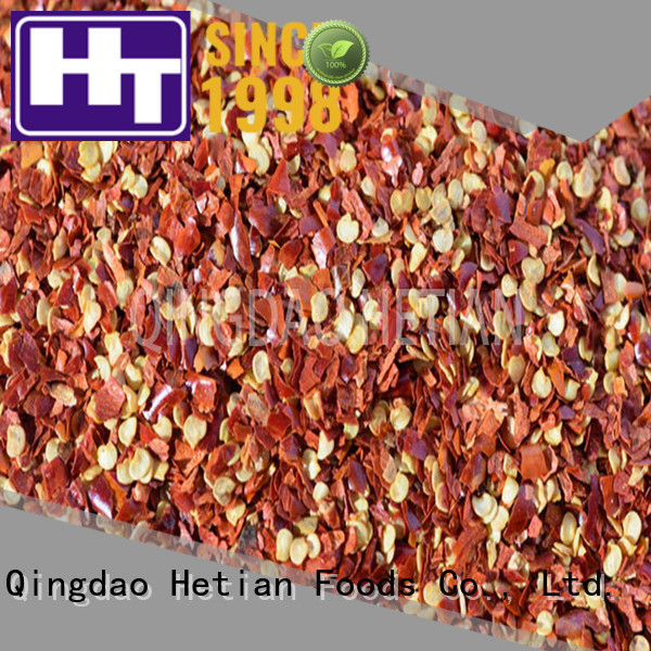 Hetian healthy dried crushed red pepper directly sale for cafe shop