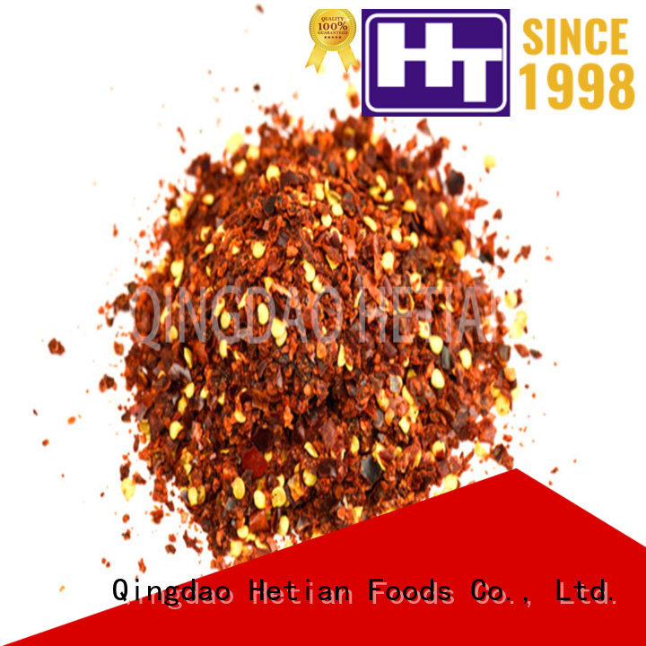 Hetian good quality dried crushed red pepper directly sale for cafe shop