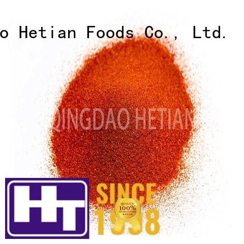 Hetian organic crushed paprika manufacturer for food