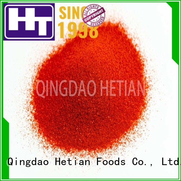 Hetian high quality paprika flakes manufacturer for party