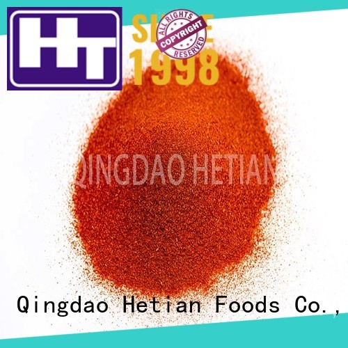 Hetian high quality crushed paprika promotion for food
