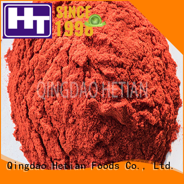 Hetian good quality dried chilli flakes factory price for cafe shop